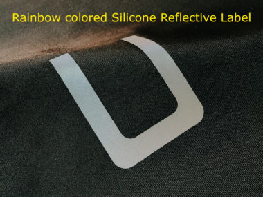Rainbow colored Silicone Reflective Label