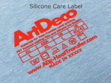 Silicone care Label
